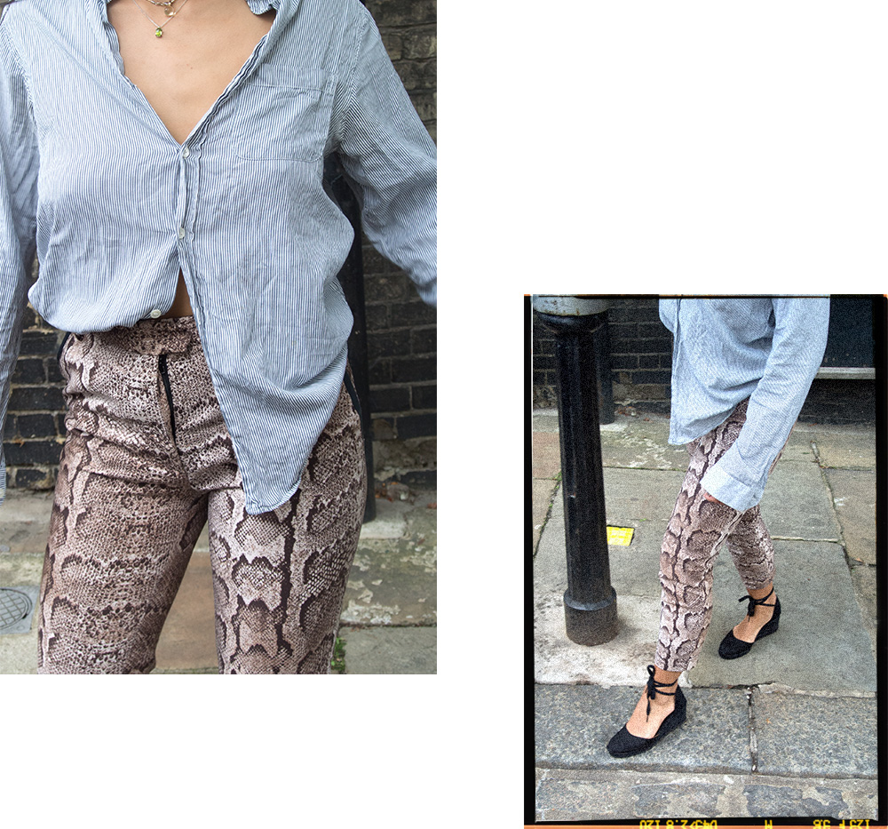 isabelle angelebaby london snakeskin trousers