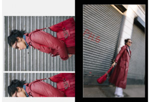 angelebaby red trench coat valentino